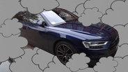 Audi A8 im Qualm