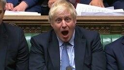 Boris Johnson mit offenem Mund