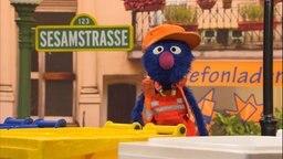 Sesamstrasse Folge 2843: Grobi ist Müllmann. © NDR Foto: Torsten Jander