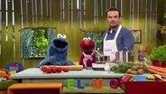 Sesamstrasse Folge 2844: Krümelmonster, Elmo und Steffen Henssler