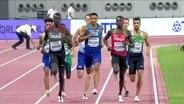 Das 2. Halbfinale der Männer über 800m bei der Leichtathletik WM in Doha.