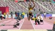 Shanieka Ricketts beim Dreisprung bei der Leichathletik-WM in Doha