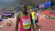 Timothy Cheruiyot nach seinem Lauf über 1500m bei der Leichtathletik-WM in Doha