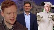 Christian Ehring mit Björn Höcke als Wolf im Schafspelz