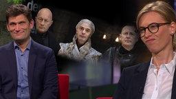 Christian Ehring im Gespräch mit Marlies Heidel (AfD) gespielt von Kirstin Warnke.