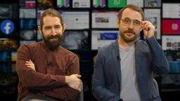 Freddy Radeke und Jakob Leube im Fake-Newsroom