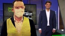 Jens Spahn mit Maske und Christian Ehring