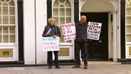 Demo der Verschwörungstheoretiker in London.