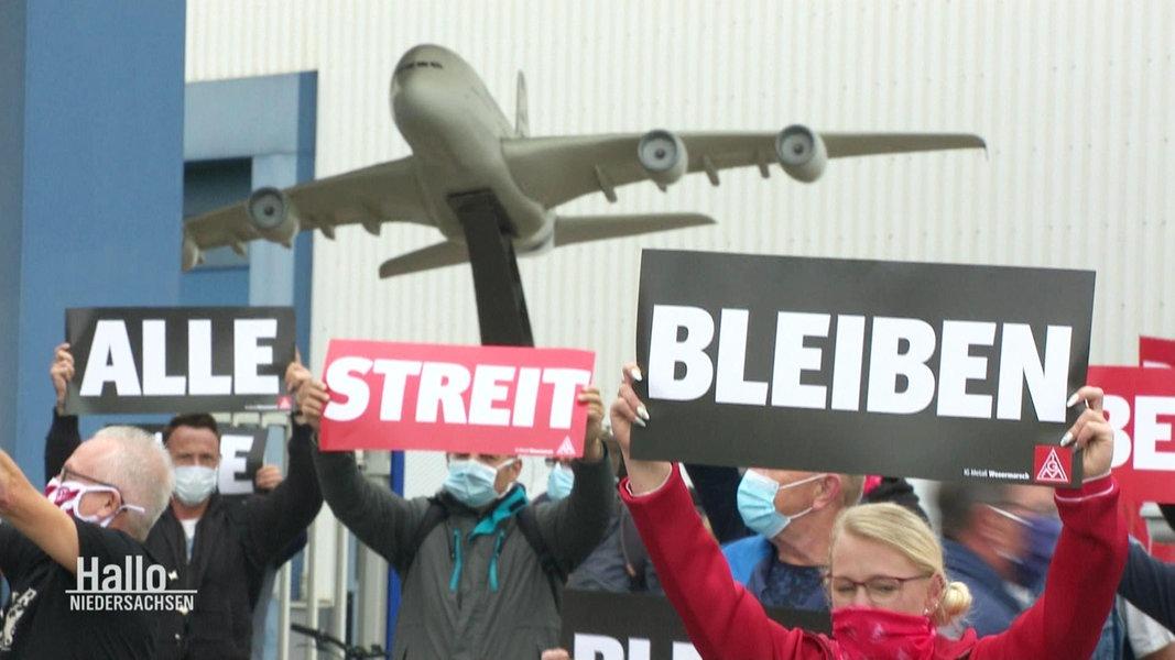 Airbus-Beschäftigte kämpfen um ihre Arbeitsplätze