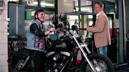 Johannes Schlüter auf einer Harley