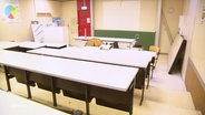 Ein leerer Klassenraum der Grundschule in Graal-Müritz.