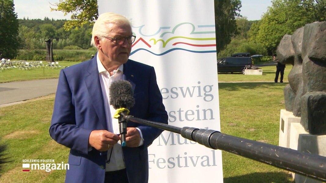 Steinmeier beim Grubinger-Konzert in Schleswig