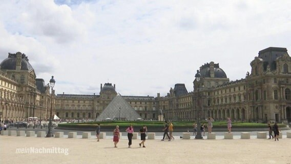Das Louvre-Museum in Paris.
