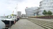 Ein Gebäude der AIDA Cruises in Rostock.