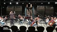 Das Göttinger Symphonie Orchester während einer Probe.