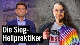 Christian Ehring mit einem Nazi-Hippie.