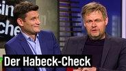Christian Ehring und Max Giermann als Robert Habeck im Interview bei extra 3.