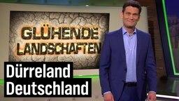 """Christian Ehring vor der Aufschrift """"Glühende Landschaften"""""""