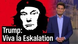 Christian Ehring und Donald Trump in Che Guevara-Anmutung