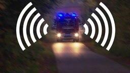 Feuerwehr mit Sirene.