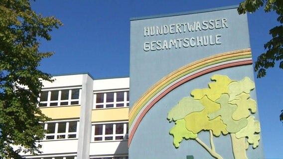 Die Hunderwasser Gesamtschule in Rostock.