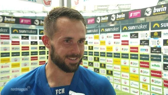 Pascal Breier vom FC Hansa Rostock