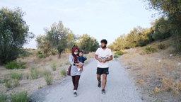 .Abdul Sultani mit Familie auf Lesbos
