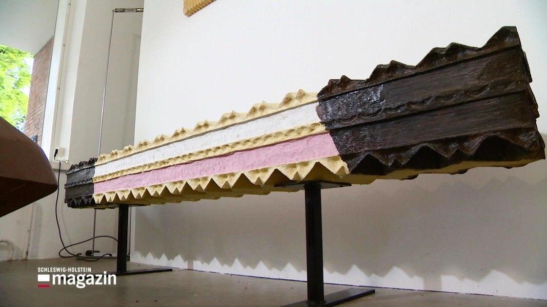 Keks-Skulpturen bei den Ateliertagen in Kiel