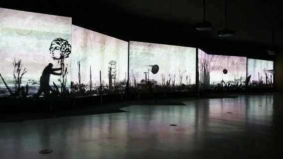Kunstwerk des international bekannten Künstlers William Kentridge