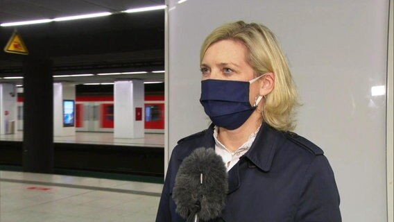 Sandra Levgrün, porte-parole de la police de Hambourg.