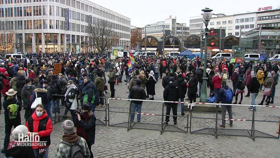 Eine Demonstration in Hannover.