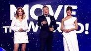 Die drei ModeratorInnen des Junior Eurovision Song Contest 2020.