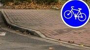 Der kürzeste Radweg Deutschlands in Cloppenburg.