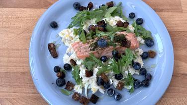 Lachs aus dem Ofen mit Fenchel-Nudelsalat