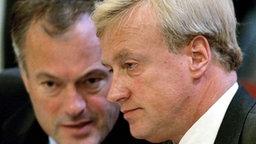 Ronald Schill, Ole von Beust © dpa - Bildarchiv Foto: Sören Stache