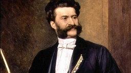 Ein Gemälde des österreichischen Komponisten und Walzerkönigs Johann Strauss aus dem Jahr 1888. © dpa