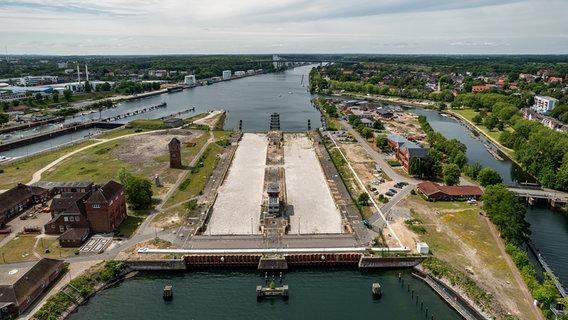 Sanierung Schleusenanlage Kiel-Holtenau © NDR/WSA Schleswig-Holstein/Carsten Bernot