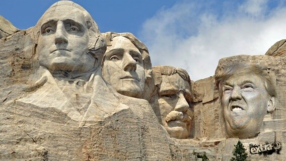 Donald Trump in Mount Rushmore