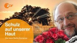 """Martin Schulz zeigt Emotionen. Demnächst am Sonntagabend, die neue Berlin-Romanze im ZDF: """"Schulz auf unserer Haut""""."""