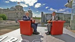 Bundesinnenminister Seehofer im ARD-Sommerinterview mit Thomas Baumann.