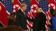 Donald Trump und Kim Jong-un beim Gipfeltreffen in Hanoi.