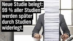 Neue Studie belegt: 99% aller Studien werden später von Studien widerlegt.