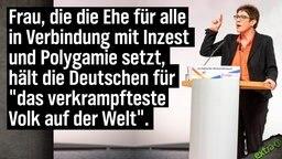 """Frau, die die Ehe für alle in Verbindung mit Inzest und Polygamie setzt, hält die Deutschen für """"das verkrampfteste Volk der Welt""""."""
