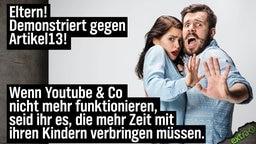 Eltern! Demonstriert gegen Artikel 13! Wenn Youtube & Co. nicht mehr funktionieren, müsst IHR mehr Zeit mit euren Kindern verbringen!