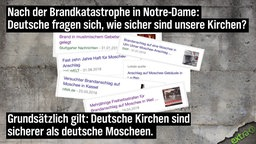 Nach der Brandkatastrophe in Notre-Dame: Deutsche fragen sich, wie sicher sind unsere Kirchen? Grundsätzlich gilt: Deutsche Kirchen sind sicherer als deutsche Moscheen.