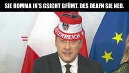 """Strache mit österreichischem """"Wutbürger""""-Hut: """"Sie homma in's Gsicht gfümt. Des deafn sie ned."""
