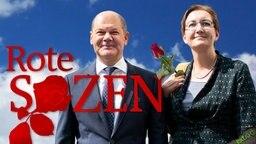 Die Roten Sozen Olaf Scholz und Klara Geiwitz