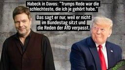 """Habeck in Davos: """"Trumps Rede war die schlechteste, die ich je gehört habe."""" Das sagt er nur, weil er nicht im Bundestag sitzt und die Reden der AfD verpasst."""