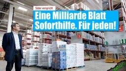 Söder verspricht: Eine Milliarde Blatt Soforthilfe. Für jeden!