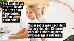 Die Bundesliga startet, bevor die KiTas den Regelbetrieb wieder aufnehmen. Dabei sollte man nach dem Kalou-Video den Kindern eher die Einhaltung der Hygieneregeln zutrauen.